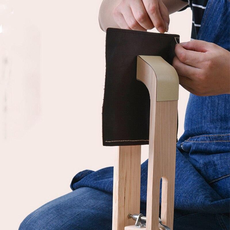 Деревянное кожевенное ремесло, ручная строчка, пони, кожаное ремесло, шнуровка, шитье, настольный инструмент «сделай сам», портативный зажи...