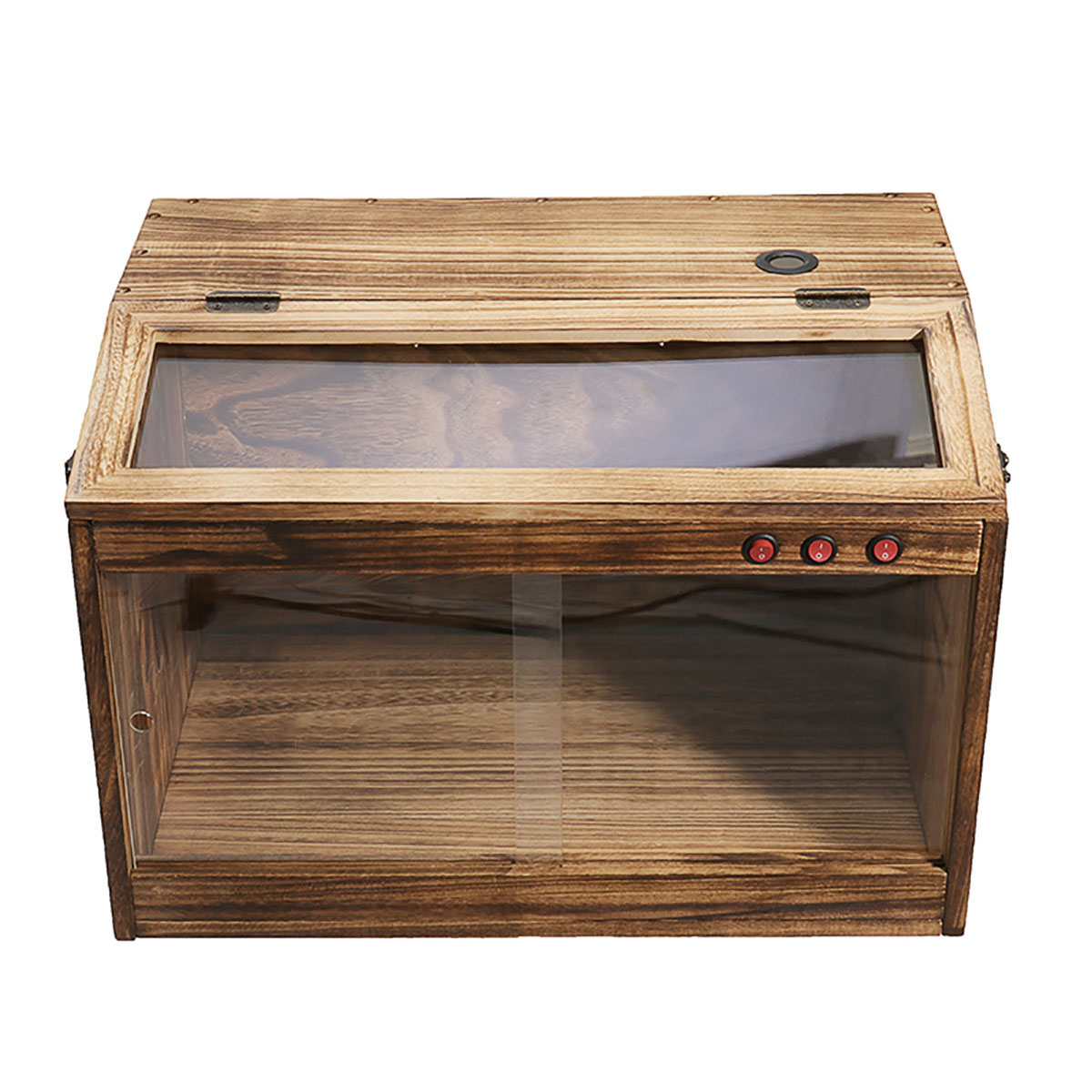 Pet Reptiles Wooden Terrarium Window Enclosure Cage Lizard Snake Tortoise Tank Lock Vent Pet Reptiles Supplies Tools Container