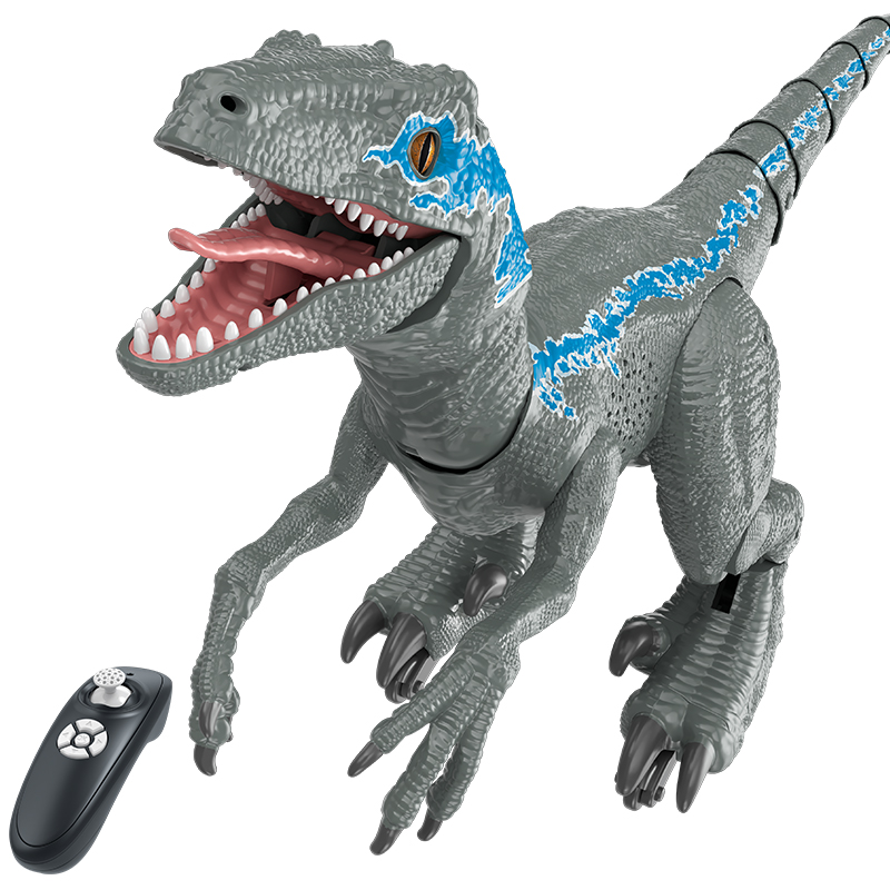 2.4Ghz RC Intelligent Dinosaur Raptor Animal Remote Control Toys Electric Walking Animals Flexible Tail Toys For Children