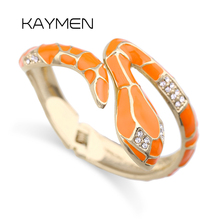 Snake Bangle Bracelet Statement-Cuff Animal-Style Women 3-Colors New for Gilrs Golden