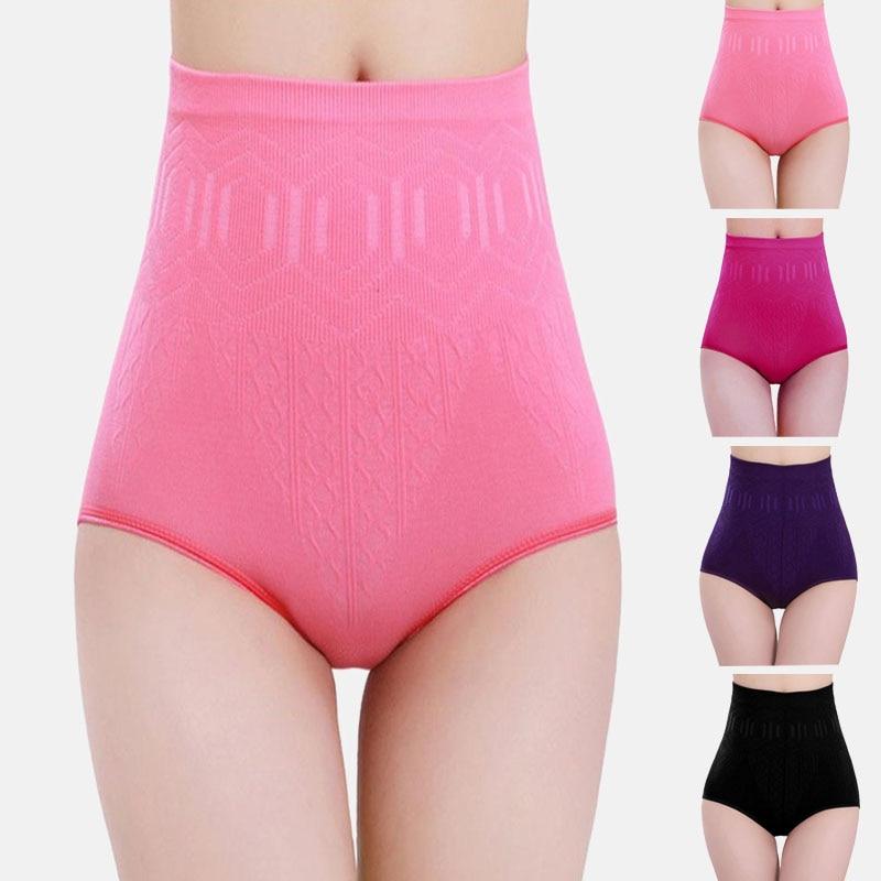 Women High Waist Lace Floral underwear Postpartum Body Shaper Tummy Control Pant