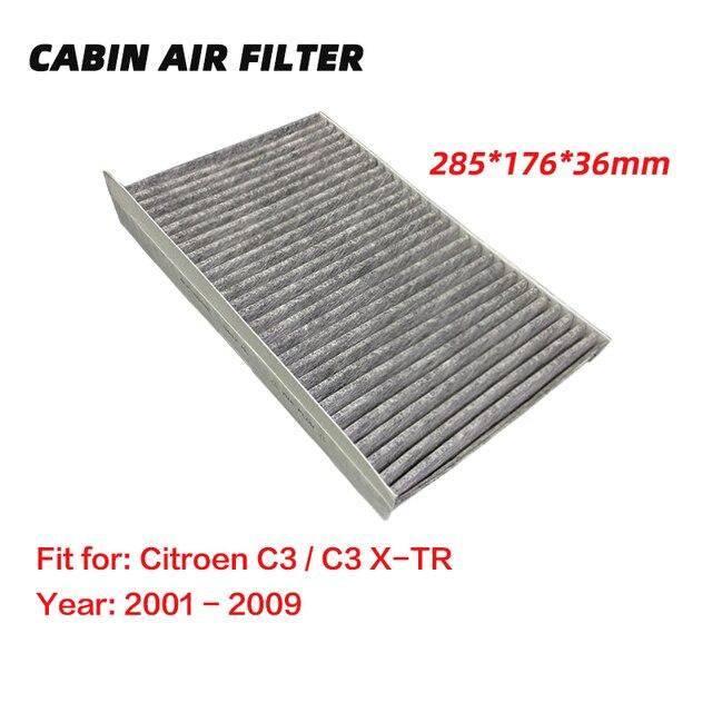 Premium Cabin Air Filter for Citroen C3 / C3 X TR (2001 2009)  Activated High Carbon Pollen Air Filters Better than Original 1pc