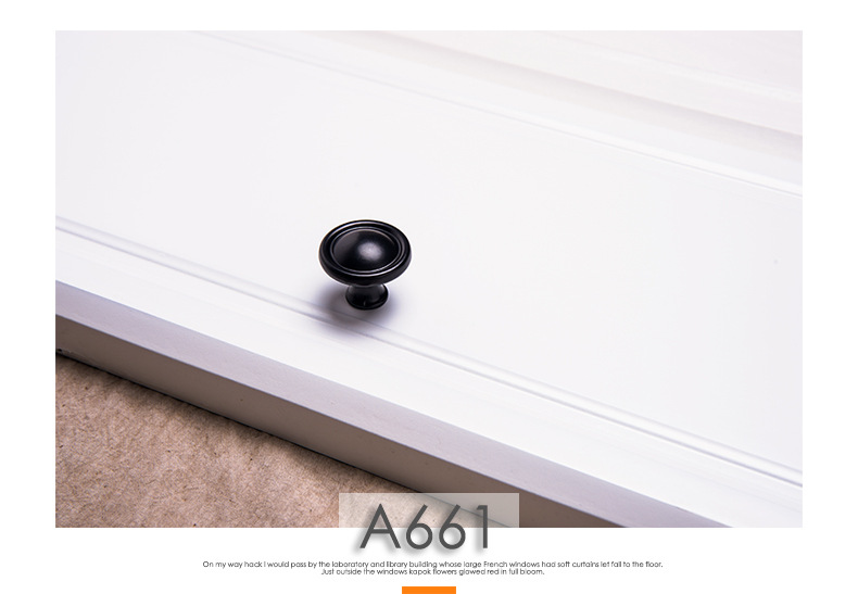 H8f88f8cc9705400aa29681da24e782b5Z - American Modern Style Black Cabinet Handles Solid Aluminum Alloy Kitchen Cupboard Pulls Drawer Knobs Furniture Handle Hardware