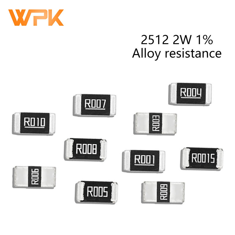 50Pcs 2512 3W SMD Legierung Widerstände Set 1% Toleranz 0,002 R 0,007 R 0,012 R 0,025 R 0,1 R 0,18 R 0,22 Ohm Niedrigen Niederohm Chip Widerstand Kit