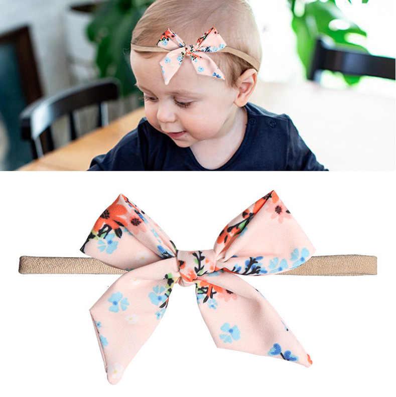 1 חתיכה Lytwtw של תינוק פרח Bowknot בגימור ילדה גומייה לשיער תינוקות הראש אלסטי יילוד פעוטות שיער אביזרי בגדים