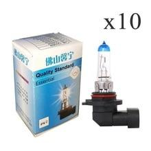 цены 10Pcs 9006 HB4 12V 65W fog lamps Halogen light bulbs 5000K for cars design light source Super Bright White Light Bulbs
