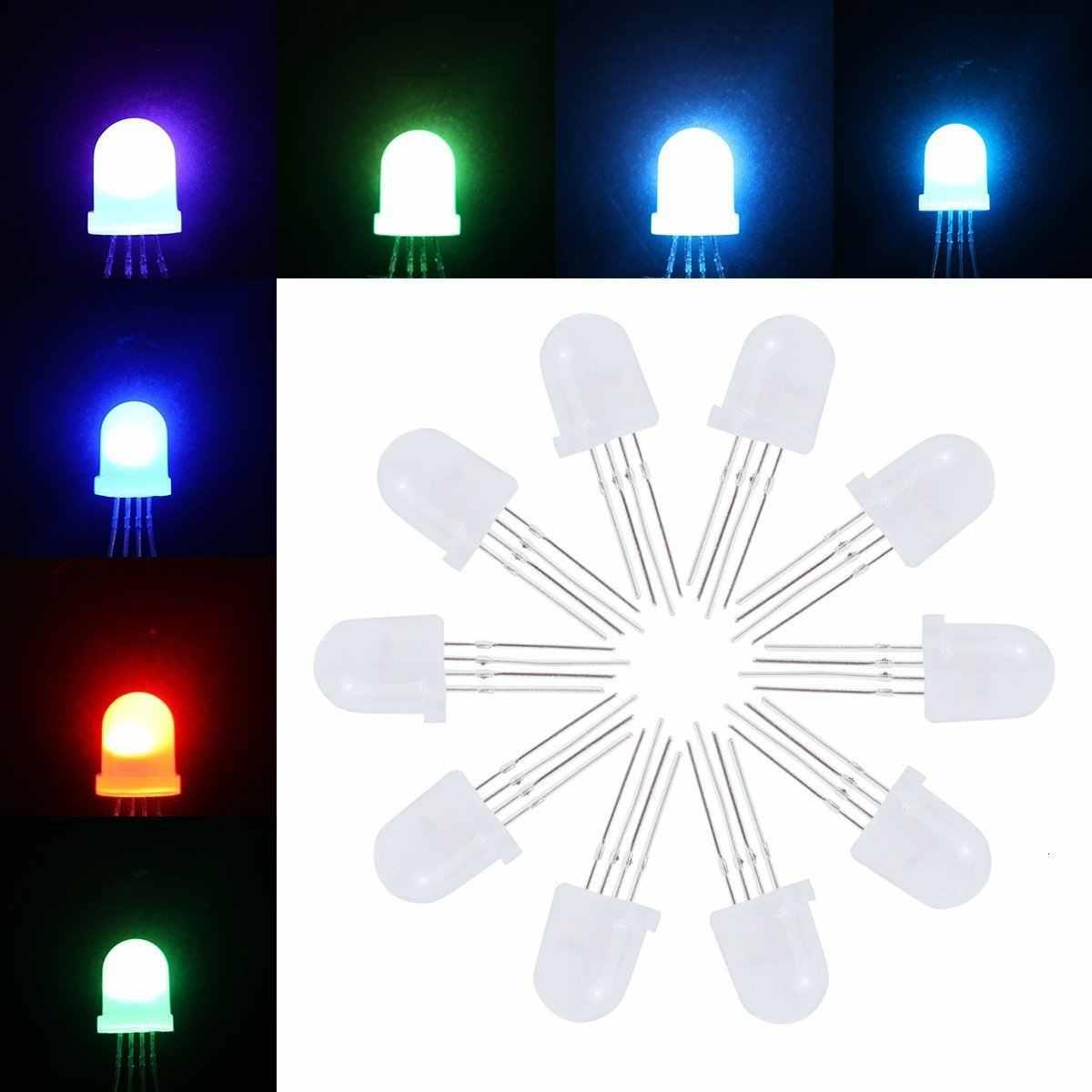 P9823 Ws2818 Apa106 5mm kolorowy wyświetlacz Led koraliki do lampy Led bezpośrednio wstawić Rgb 5v rozproszone 8mm przez otwór LED