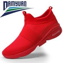 Men Shoes Fashion Sneakers Tenis Damyuan White Breathable Wholesale Mesh for Flat