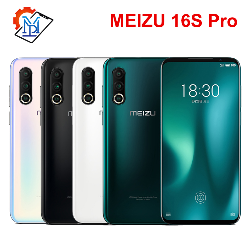 Original Meizu 16S Pro Mobile Phone 6.2 Inch FHD+ 6G/8G + 128G/256G Snapdragon 855 Plus Octa Core Android 9.0 NFC Smartphone