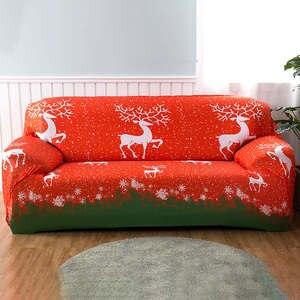 Image 1 - Housse de canapé élastique de Style noël