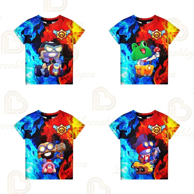 Brawling Piper and Star,3D t shirts 2021 NEW DESIGN Kids Tops Girls Boys Clothes Harajuku Fashion Shark Leon Children Babys