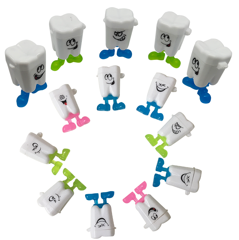 Cartoon Tooth Man Shape Milk Teeth Storage Box Tooth Fairy Box Child's Deciduous Tooth Souvenir Save Container Tool Dental Gift