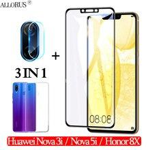 3-in-1 Case + Camera Tempered Glass For Huawei Nova-3-i 5i Screen Protector honor 8x Full cover glass huawei nova 3i 3D