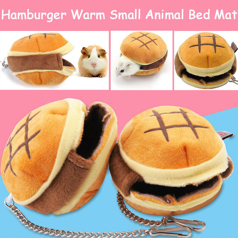 8x6cm Creative Solid Plush Ponge Refill Soft Pet Cozy Guinea Pig Bed House Small Animal Hamster Rat Hammock Nest Pad