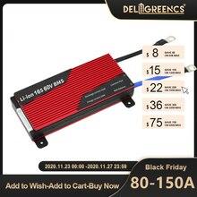 Deligreen 20S 80A 100A 120A 150A 200A 250A 72V BMS for Li PO LiNCM battery 18650 pack E bike charge discharge