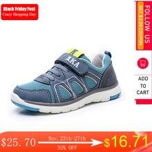 Apakowa/весенне осенняя повседневная обувь для мальчиков; Детские дышащие кроссовки из искусственной кожи для малышей; Модные спортивные кроссовки для мальчиков; Европейские размеры 26 31