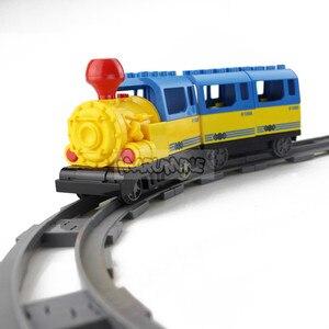 Image 5 - Marumine pil kumandalı Duplo oyuncak trenler yapı taşları çocuk eğitici oyuncak hediye çocuklar için elektrikli tren