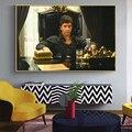 Современный художественный портрет, холст, художественная живопись, Постер и принты, настенное искусство Тони Монтана, картина для гостино...