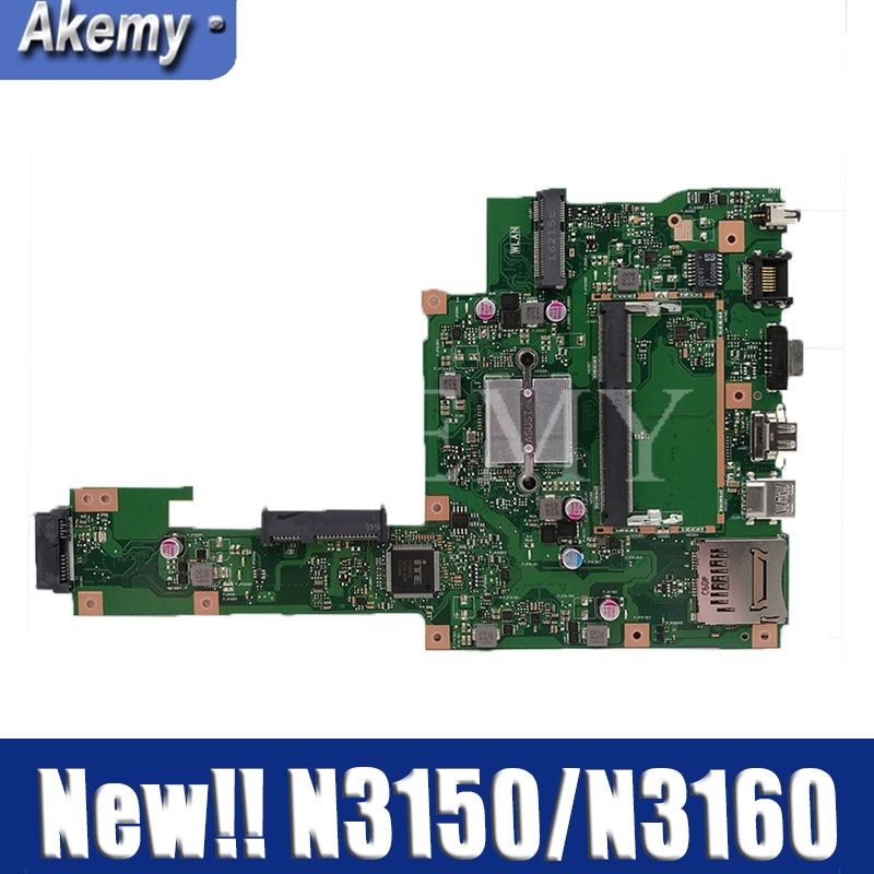 New ! Akemy X553SA Motherboard For ASUS X553SA X553S X553SA F553S A553S  Mainboard 100% test OK W/ N3150/N3160 CPU