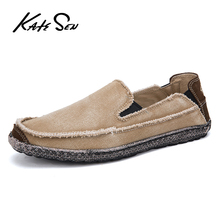 KATESEN 2019 summer canvas men's shoes casual soft shoes slippery easy to wear men's fashion driving shoes big size loafers highlight women s fashion shoes strong is not easy to wear suitable for girls to wear shoes in formal places low price for sale