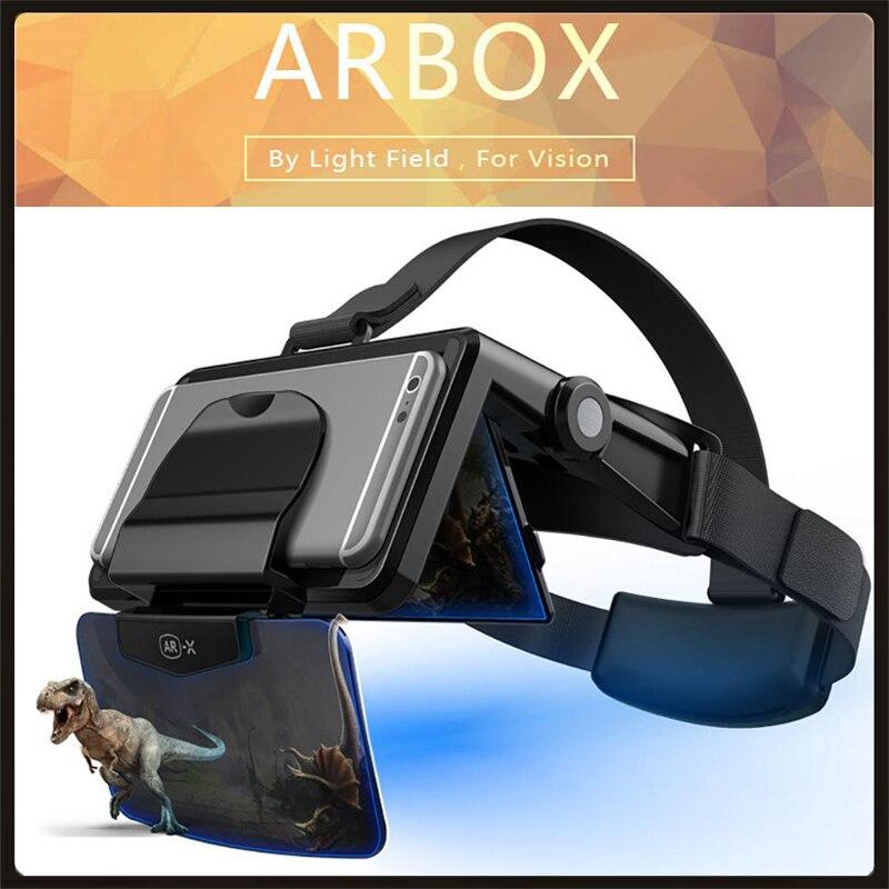 2021 AR Box голографические эффекты умный шлем виртуальной реальности 3D очки виртуальной реальности AR для телефона 4,7 6,3 дюймов 3D очки, очки виртуальной реальности      АлиЭкспресс
