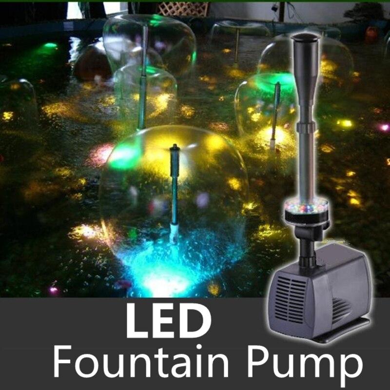 Kleurrijke Knipperende LED Aquarium Dompelpomp Fontein Pomp Fontein Maker Voor Aquarium Vijver Garden Pool-in Waterpompen van Huis & Tuin op  Groep 1