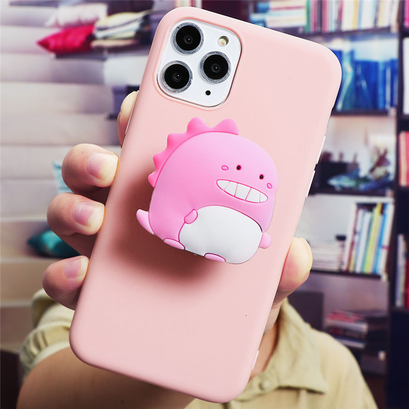 Cute Cartoon Print Design Made Of Soft TPU Material Standing Case For iPhone Mobiles 6