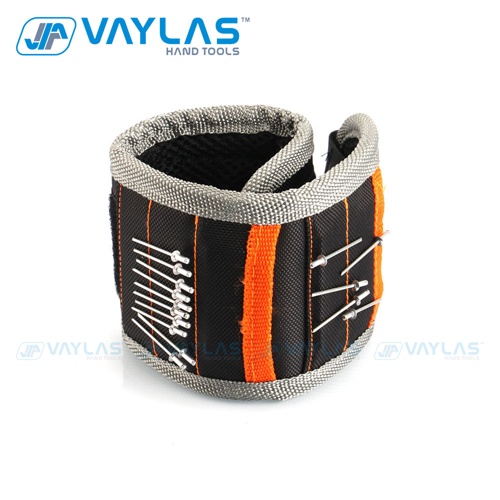 VAYLAS Magnetic Wrist Band Wristband Tool Magnetic Holding Helper Portable Universal Tools Holder Powerful Permanent Magnet