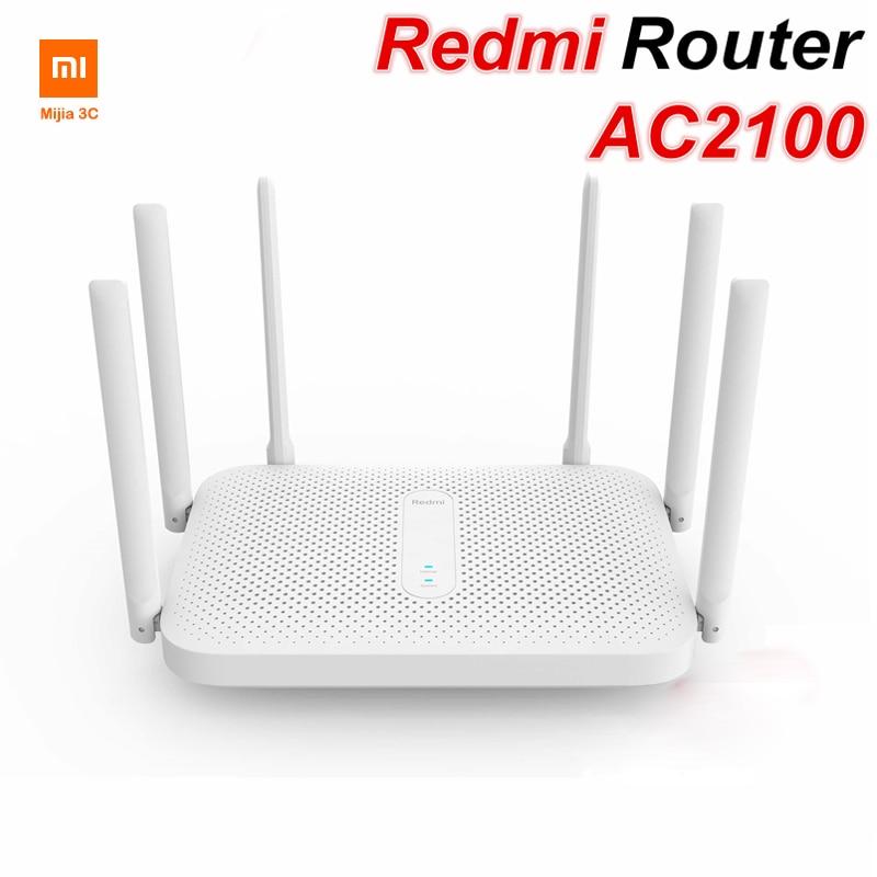 Xiaomi Redmi AC2100 Router Gigabit Dual-Band Wireless Router Wifi Repeater mit 6 High Gain Antennen Größere Reichweite Einfach setup