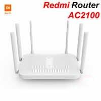 Xiaomi Redmi AC2100 Router Gigabit Router inalámbrico de doble banda repetidor Wifi con 6 antenas de alta ganancia cobertura más amplia fácil configuración