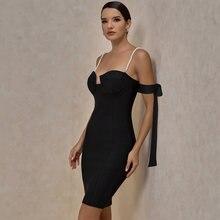 Ocstrade Бандажное платье Новое поступление 2021 черное с открытыми