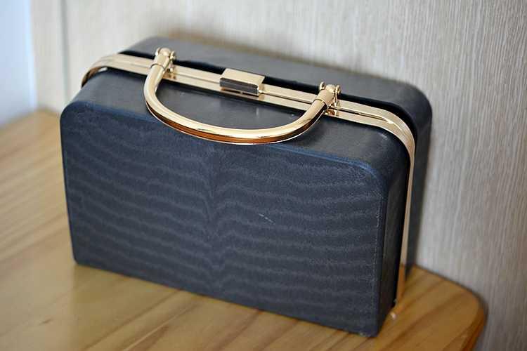20,5X12,5 X8 cm Gold Metall Tasche Griff schwarz kunststoff box kupplungen geldbörse rahmen geldbörse brieftasche diy handtasche Dropship geldbeutel griff rahmen