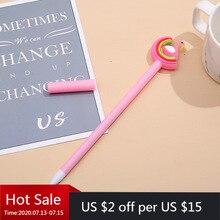 40 Pcs Rainbow Cartoon Modellering Neutrale Pen Zachte Meng Studenten Schrijven Zwart Kantoor Handtekening Pen
