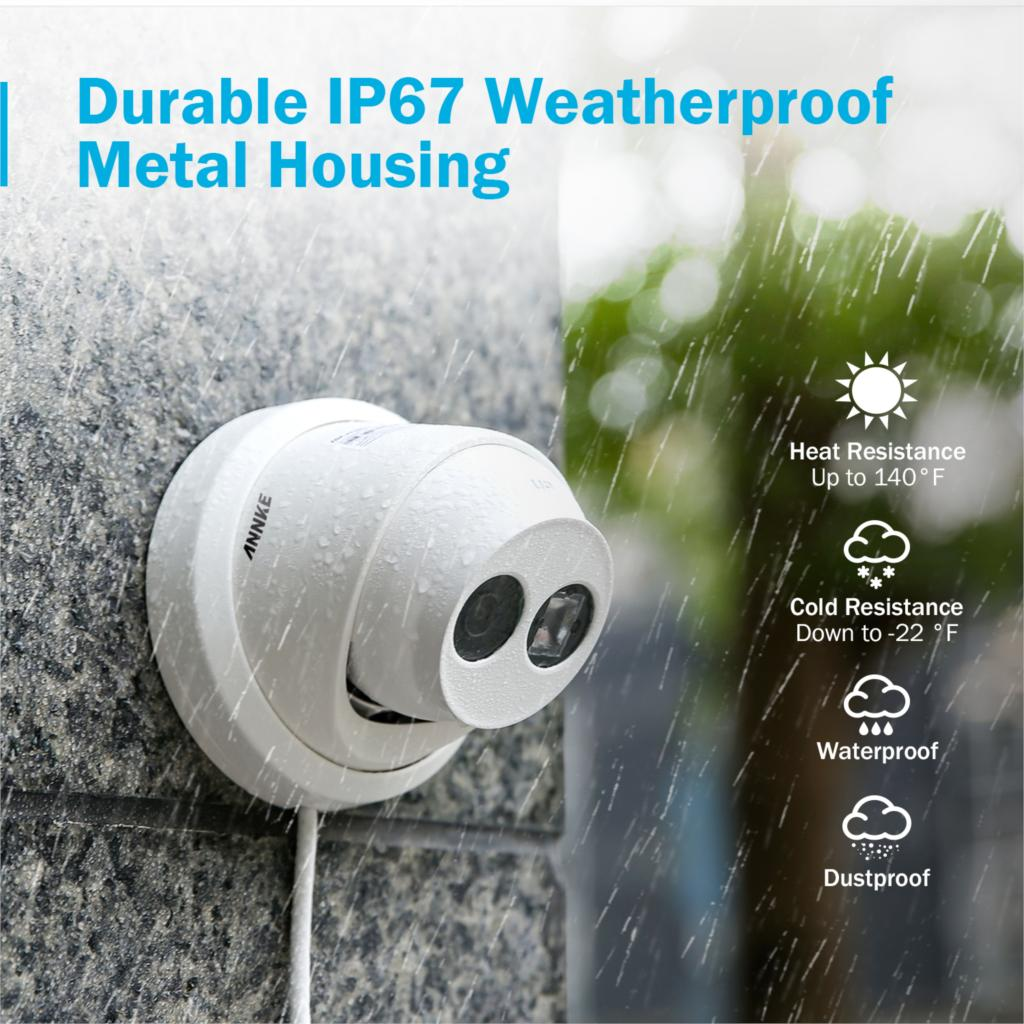 Image 5 - ANNKE 4PCS Ultra HD 8MP POE Camera 4K Outdoor Indoor Weatherproof Security Network Dome EXIR Night Vision Email Alert CCTV Kit-in Surveillance Cameras from Security & Protection