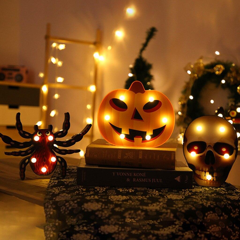 LED Ghost String Lights For Halloween Party Decor Bat Spider Skull Pumpkin Shape Halloween Lights for Halloween window display