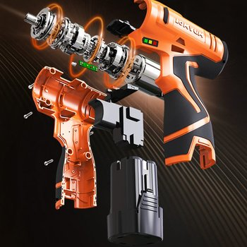 12V Double Speed Electric Drill Rechargeable Mini Cordless Handheld Screwdriver Drill aotuo cordless electric screwdriver lithium battery mini two speed electric drill rechargeable screwdriver home diy electrictool