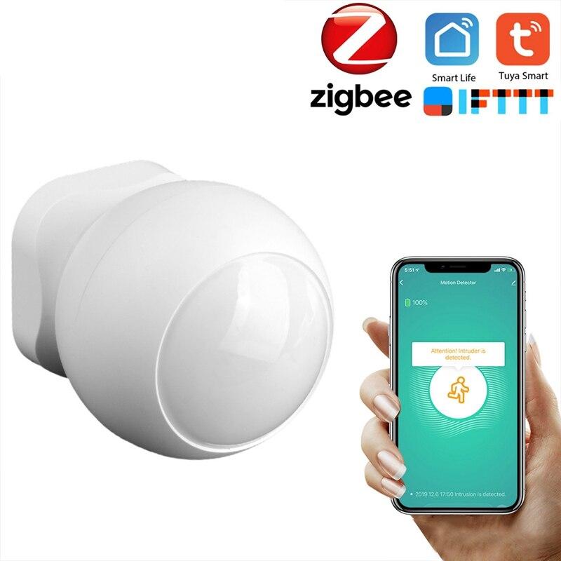 Smart Tuya ZigBee PIR Motion Sensor Wireless Passive Infrared Detector Security Burglar Alarm Sensor Tuya/SmartLife APP Control