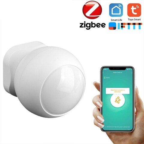 tuya zigbee inteligente pir sensor de movimento sem fio detector infravermelho passivo seguranca do assaltante
