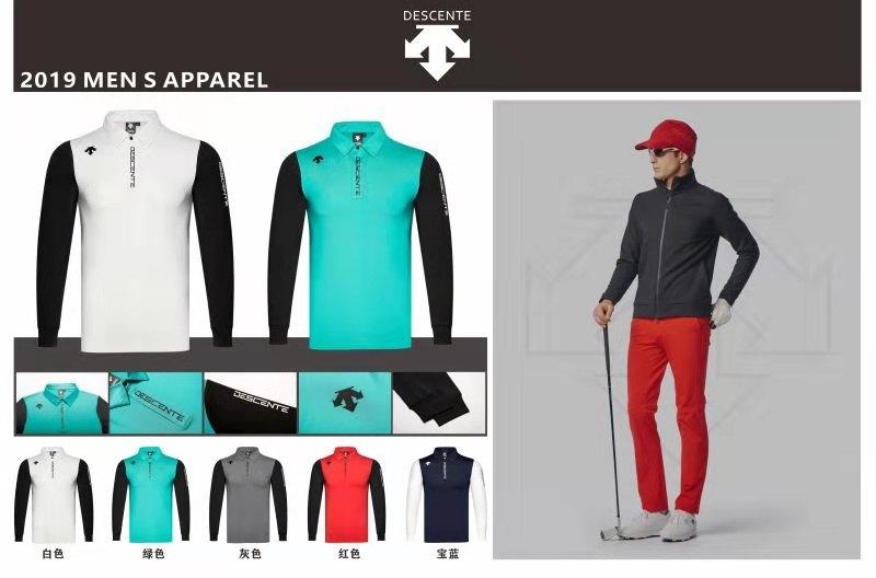 QMen manches longues DESCENTE Golf T-shirt 5 couleurs Golf vêtements S-XXL au choix loisirs Golf chemise livraison gratuite
