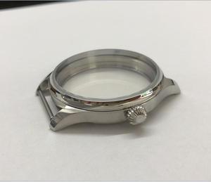 Image 4 - Parnis 44mm 316l caixa de relógio aço inoxidável caber 6497/6498 movimento vento mão mecânica 02