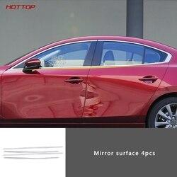 Błyszcząca taśma ze stali nierdzewnej pod rama okienna parapet okienny formowana listwa wykończeniowa do Mazda 3 axela 2020