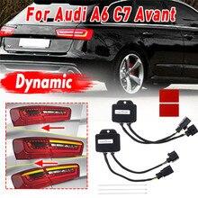 1 пара полудинамический индикатор поворотов модуль контроллера для светодиодный задний светильник s для Audi A6 C7 Avant 4G 2012 2013 задний светильник