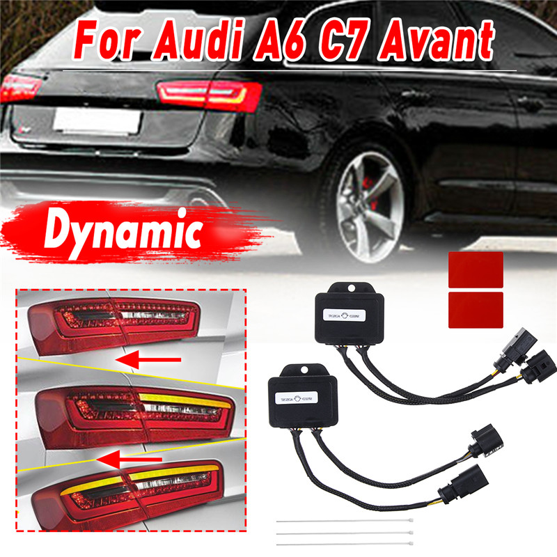 1 Pair Semi Dynamic Turn Signal Indicator Module Controller For <font><b>LED</b></font> Taillights For <font><b>Audi</b></font> <font><b>A6</b></font> <font><b>C7</b></font> Avant 4G 2012 2013 2014 Tail Light image