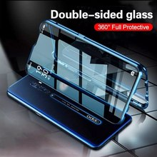 Realme C15 Fall Stoßfest Alumium Metall Stoßstange Fall für OPPO Realme C3 C11 C15 6 6i 6Pro Volle Glas Fall für OPPO Finden X2 Pro