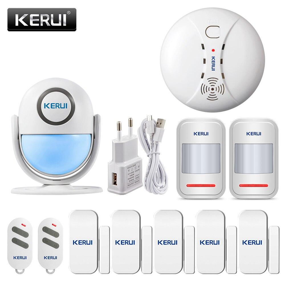 KERUI WP7 alarm ruchu System bezpieczeństwo w domu bezprzewodowa czujka PIR czujniki ruchu pilot aplikacji sterowania 120dB dźwięku system antywłamaniowy