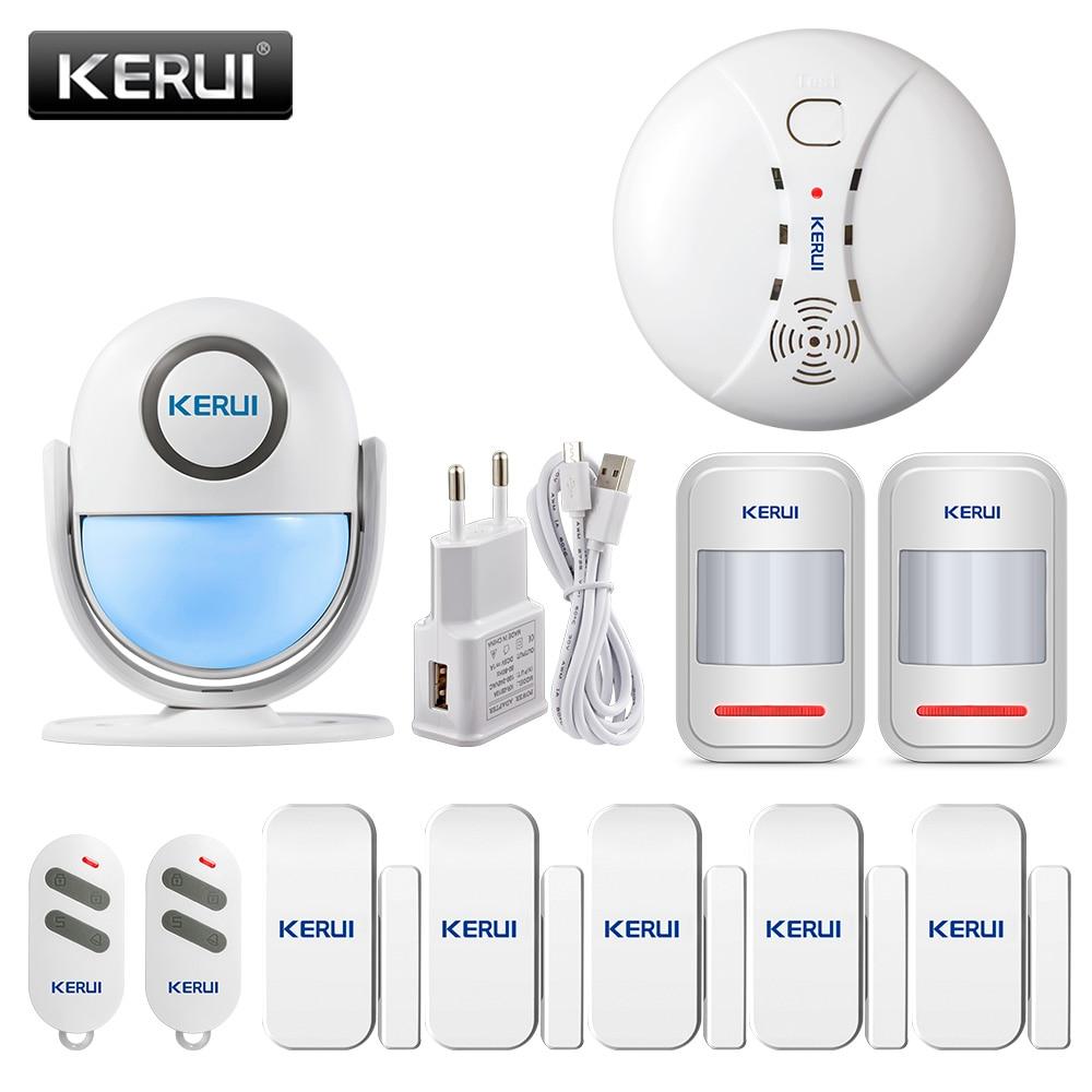 KERUI WP7 Motion Alarm System Home Security Wireless PIR Motion Sensors APP Remote Control 120dB Sound Burglar Alarm System