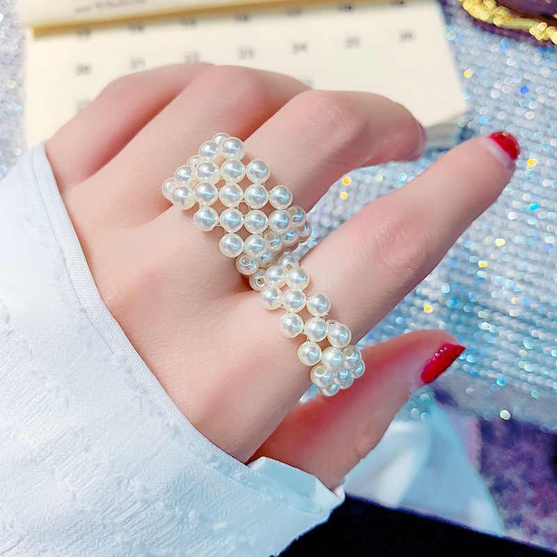 Net vermelho mesmo japonês e coreano elegante moda simples anel elástico