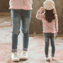 Джинсы для девочек; коллекция года; весенняя одежда; стиль; модная детская одежда в Корейском стиле; Детские обтягивающие брюки; сезон весна