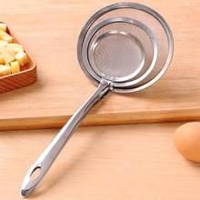 Escumadeira de gordura de aço inoxidável filtro de panela quente sopa skimmer colher de óleo de gordura espuma de graxa percolador coador ferramentas de cozinha