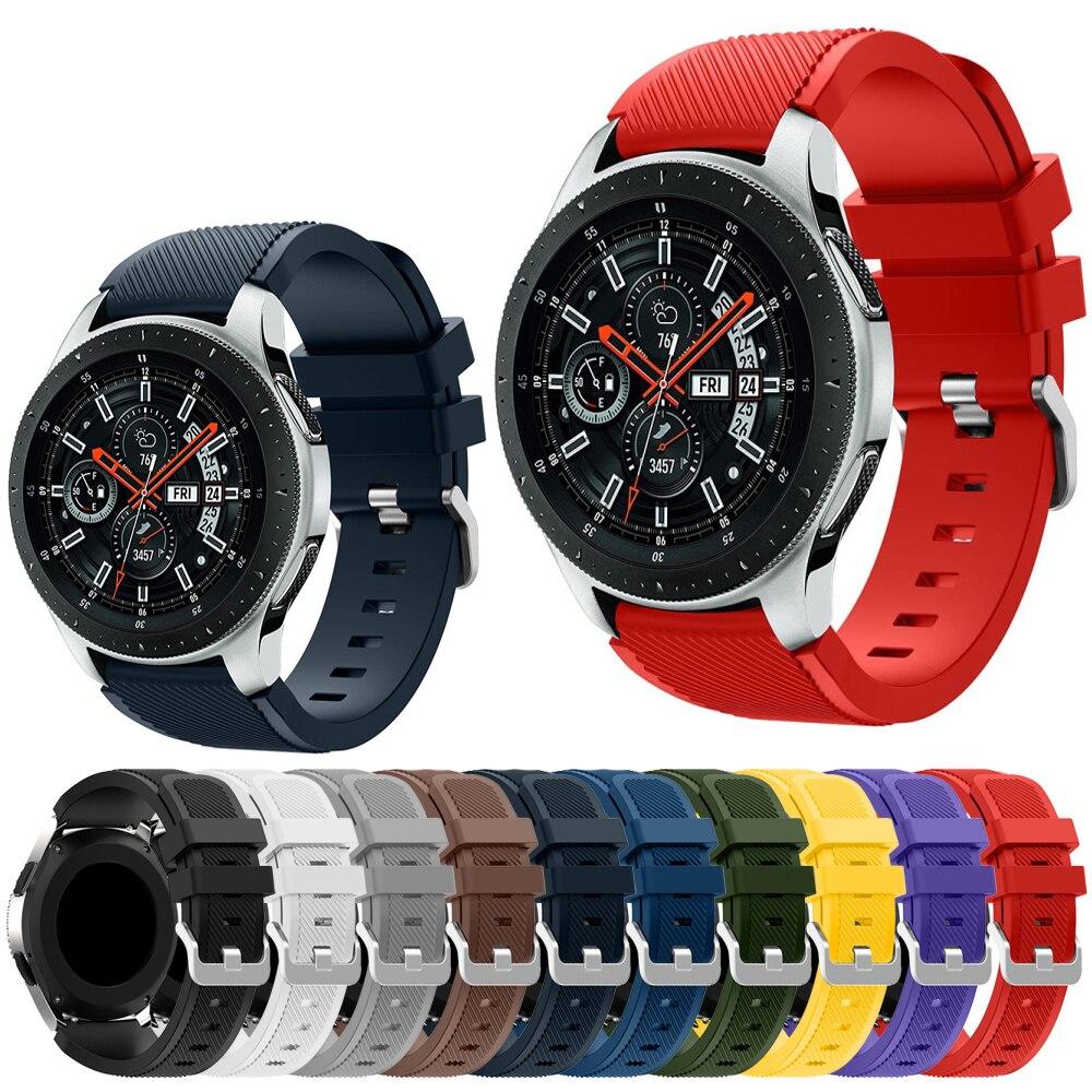 Новый 22 мм силиконовый ремешок для смарт-часов Samsung Galaxy Watch 46 мм/с зубчатой передачей S3 Frontier/Huawei часы GT GT2 46 мм/Huami Amazfit GTR 47 мм ремешок